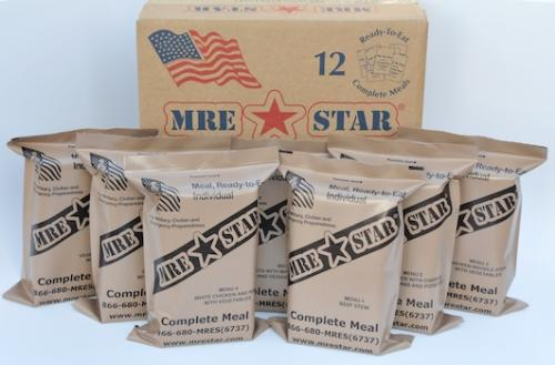 Meal Ready to Eat (MRE), 12 Pack Case