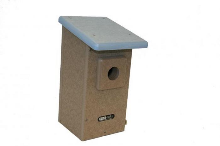Bird's Choice Recycled Bluebird House for Western Bluebirds