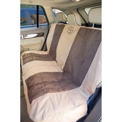 Velvet Rear Seat Protector For SUV - Tan/Espresso
