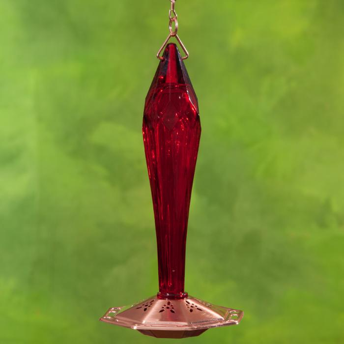 Schrodt Faceted Ruby Hummingbird Bird Feeder