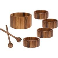 Lipper Acacia Salad Bowl 7 Piece Set