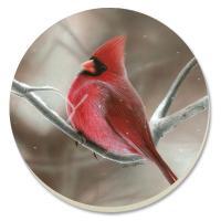 Counter Art Winter Cardinal Coasters Set of 4