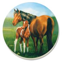 Counter Art Mare & Foal Coasters Set of 4