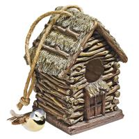 Design Toscano Backwoods Cottage Birdhouse