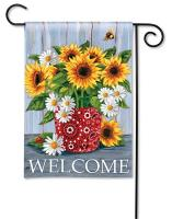 Magnet Works Bandana Sunflowers Garden Flag