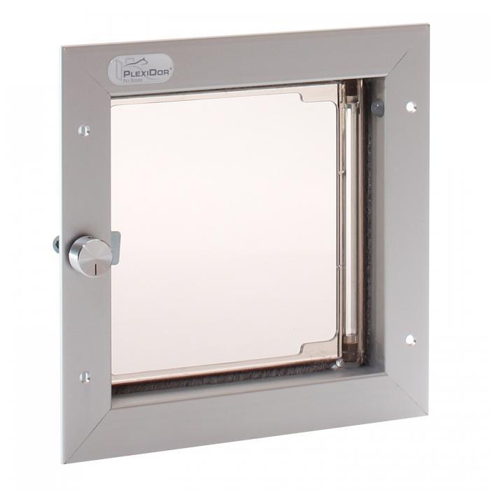 PlexiDor Small Exterior Door Application Performance Pet Door, Silver