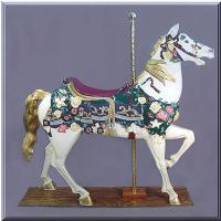 Elegant Stander Jeweltone Carousel Horse