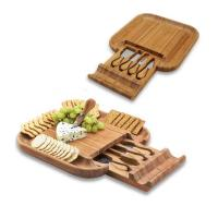 Picnic at Ascot Malvern Bamboo Cheese Board Set with 4 Tools