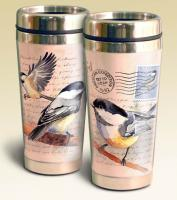 American Expeditions Chickadee Postcard Steel Travel Mug