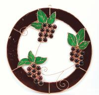 Gift Essentials Small Grape Bunch Trifecta Circle Window Panel