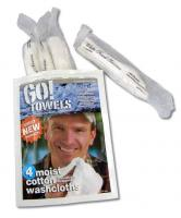Go Towels 4 Packs of 4 Individually Wrapped Moist Cotton Reusable Washcloths (100% terry cotton)