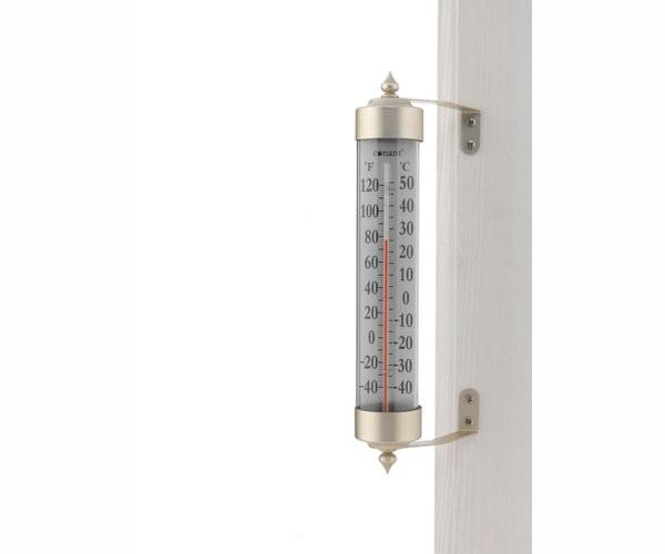 Conant Custom Brass Grande View Thermometer Satin Nickel Finish