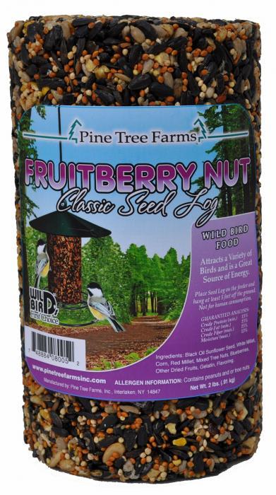 Pine Tree Farms Fruit Berry Nut Seed Log 32 oz.