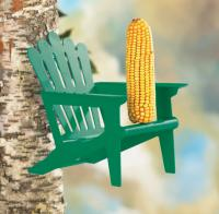 Hiatt Manufacturing Adirondack Green Chair Squirrel Feeder