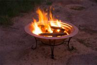 "Unique Arts 30"" Solid Copper Firepit"