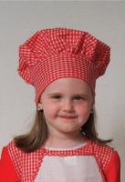 Dress Up America Red Gingham Chef Hat
