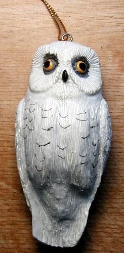 Songbird Essentials Snowy Owl Ornament