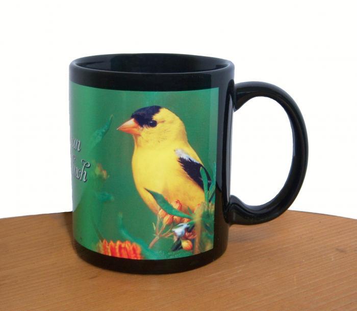 Impact Photographics Mug Black American Goldfinch