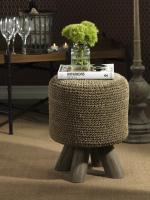 Zodax Barclay Butera Equestrian Collection Woven Foot Stool
