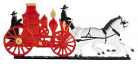 "30"" Fire Wagon Weathervane - Garden Color"