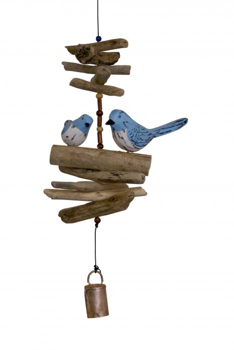 Cohasset Imports Bluebird Family Folk Art Finish Bell