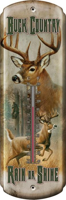Rivers Edge Products Buck Country Tin Thermometer