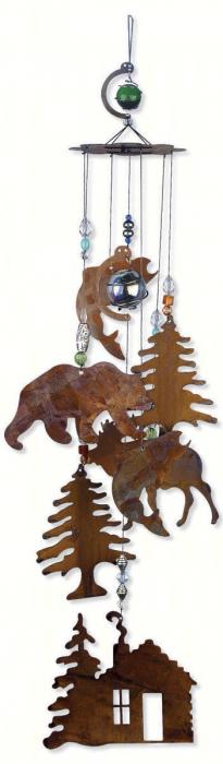 "Sunset Vista Designs Wilderness Wonders 24"" Rustic Cabin Chime"