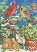Toland Winter Feast Garden Flag
