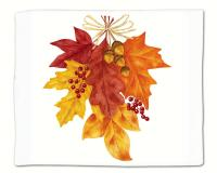Alice's Cottage Autumn Leaves Single Flour Sack Towel