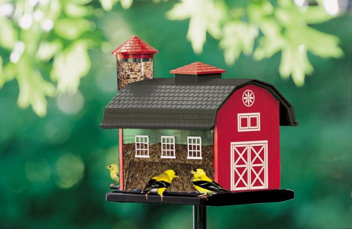 Artline Red Barn Combo Bird Feeder