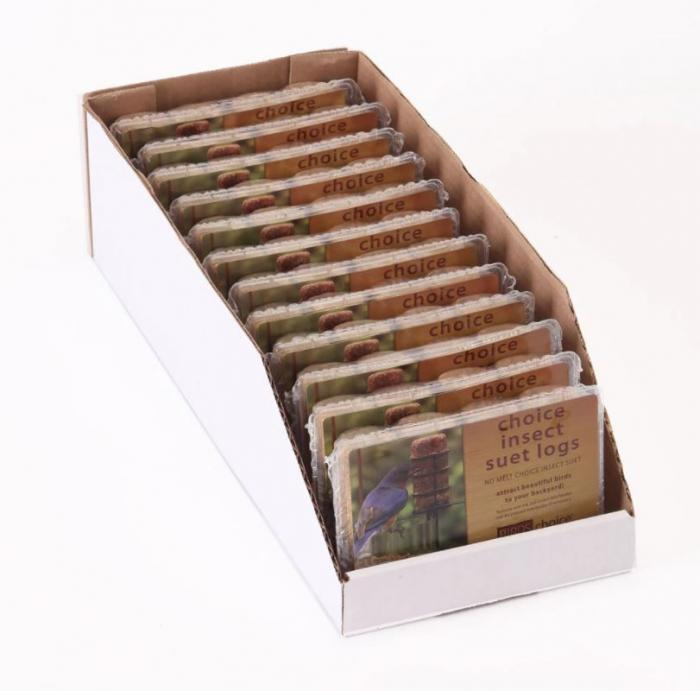 Birds Choice Choice Insect Suet Logs (Case of 12)