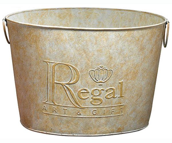 Regal Art & Gift Garden Stake Bucket Large Metal