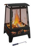 Landmann Haywood Fireplace with Wildlife Cutouts