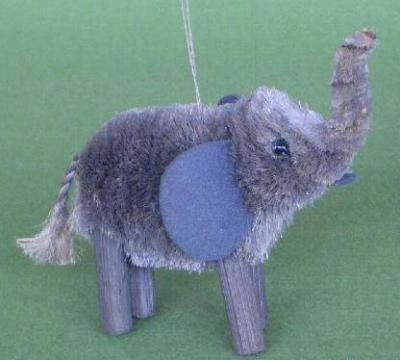 Brushart Elephant Grey Ornament