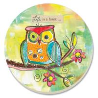 Counter Art Life is a Hoot Coasters Set of 4