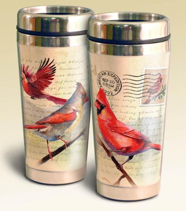 American Expeditions Cardinal Postcard Steel Travel Mug