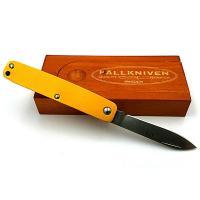 Fallkniven Knives LTC Pen Knife with Orange Handle, Plain w/Wood Gift Box, LTCOR