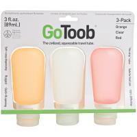 Human Gear Gotoob 2 Oz 3 Pack -  Clear/Orange/Red