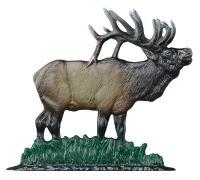 "30"" Elk Weathervane - Garden Color"