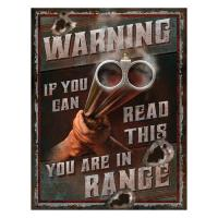 Heavy Metal Warning You're In Range Sign