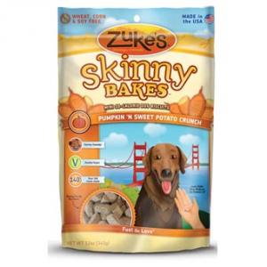 Zukes Skinny Bakes Pumpkin & Sweet Potato Crunch Dog Treats