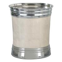 Nu Steel Fantasy 8Qt. Wastebasket, Enamel w/Chrome Plated Trim