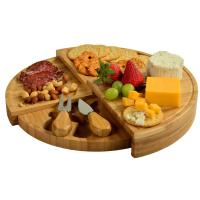 Picnic at Ascot Florence Transforming Bamboo Cheese Board Set