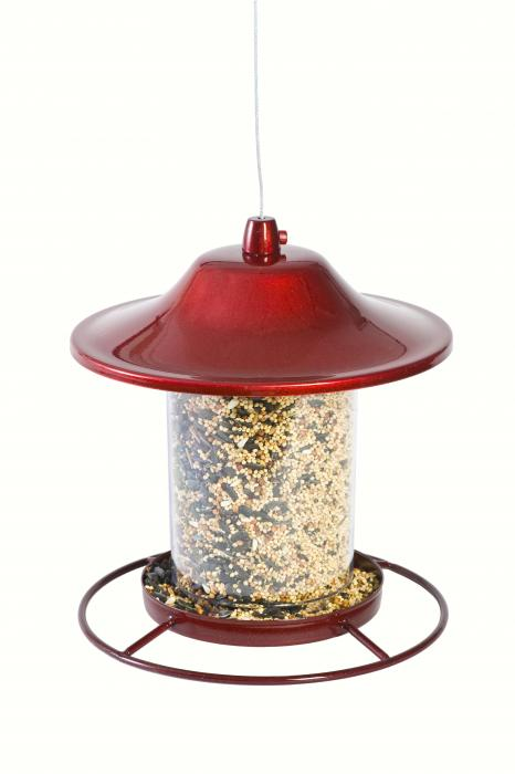 Perky Pet Red Sparkle Panorama Feeder