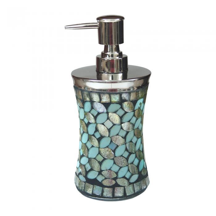 Nu Steel Sea Foam Mosaic Soap/Lotion Pump