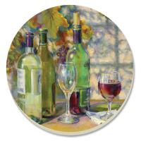 Counter Art Vintage Wine Coasters Set of 4