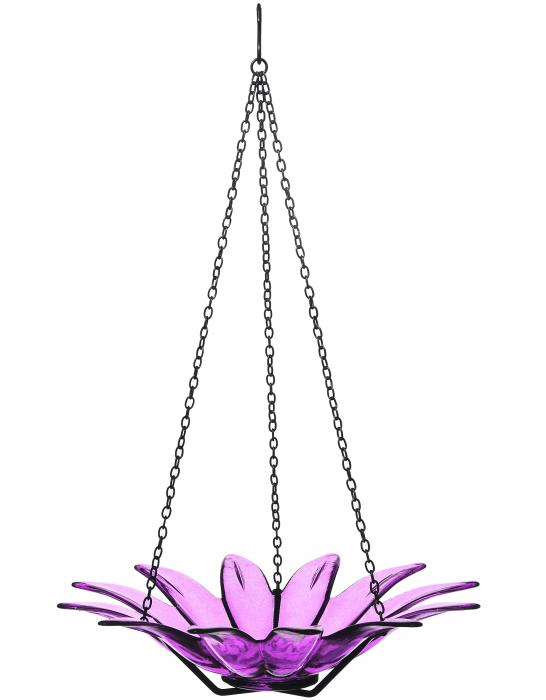 Couronne Company 12 inch Daisy Birdbath Fuchsia