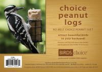 Bird's Choice Choice Peanut Suet Logs - (4) 3 oz logs