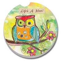 Counter Art Life's a Hoot Car Coaster