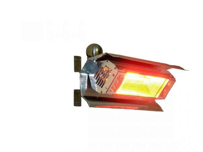 Fire Sense Patented 1500 Watt Stainless Steel Wall Mounted Infrared Patio Heater